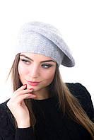 Берет женский вязаный Наталка 0043Н серый