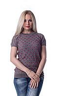 Блуза ажурная разноцветная  Дана