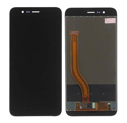 Дисплей (экран) для Honor V9 с сенсором (тачскрином) черный, фото 2