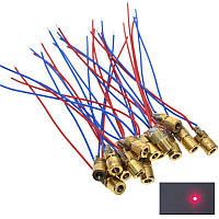 Лазер на базе диода точка 5мВт 5В красный, 10 шт.