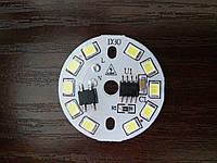 Cветодиодная плата модуль 5W 220V холодный белый SMD 2835 450-500LM, фото 1