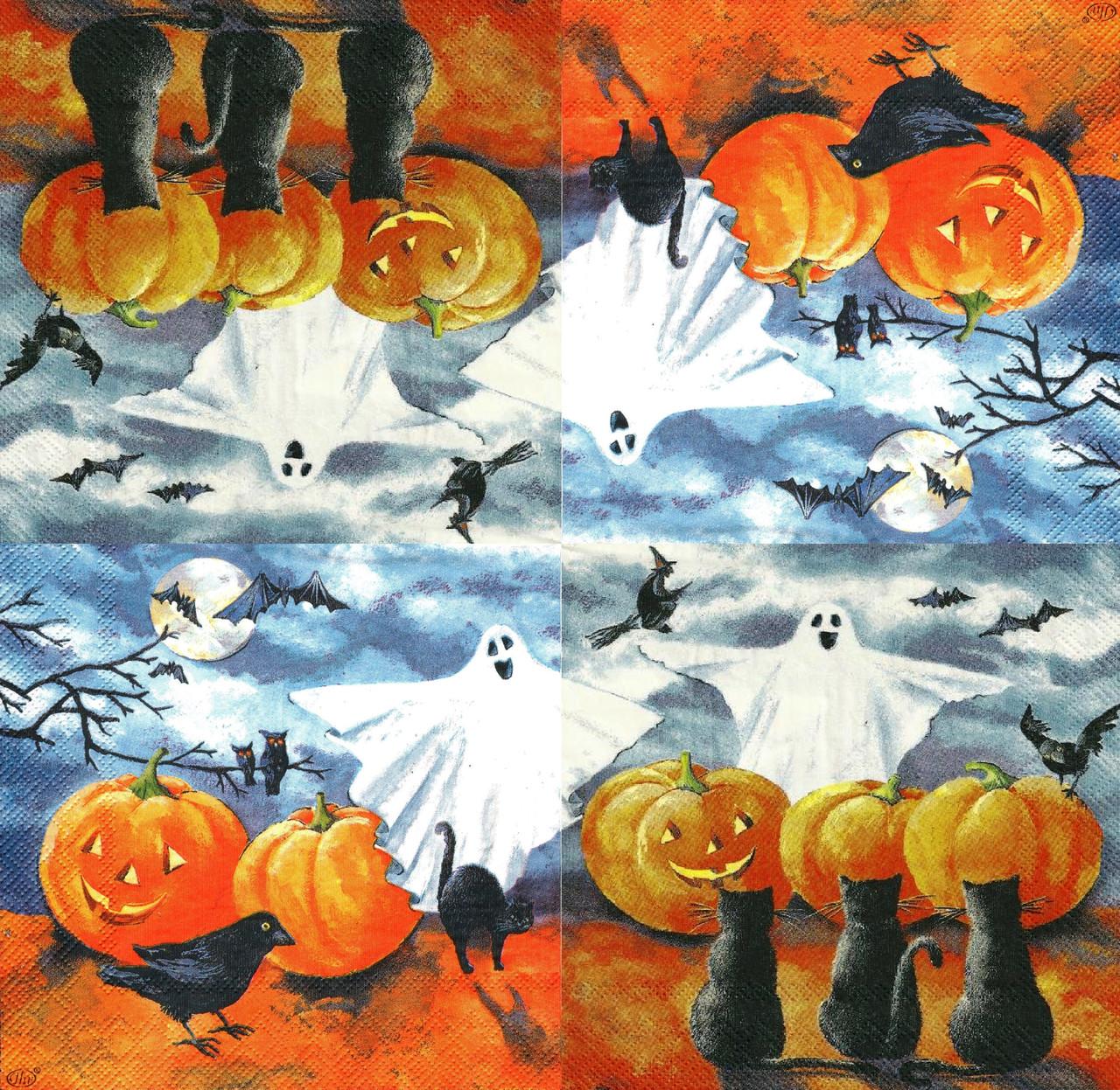Декупажная салфетка Хеллоуин-1 3604