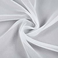 927627491 - Вуаль белая в короткие штрихи, с утяжелителем, ш.300