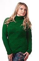 Свитер молодежный Алина зеленый