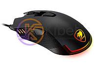 Мышь Cougar Revenger Black, USB, игровая, 12000 dpi, RGB подсветка