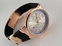 Женские часы - Ulysse Nardin - Maxi Marine -  на черном каучуковом ремешке, цвет золото, фото 1