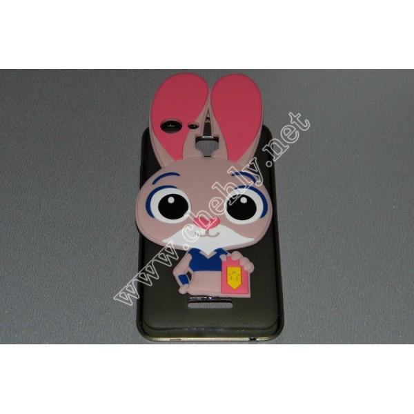 Силиконовый 3D чехол Кролик Джуди Хопс Зверополис Nomi i5012 Evo M2 – Nomi i5013 Evo M2 Pro