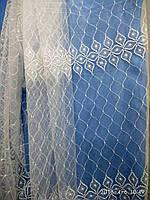 Тюль(гардина) из фатина с вышивкой. Высота 2. 8 м., фото 1