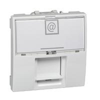 Розетка компьютерная 6 кат. Белый Unica Schneider, MGU3.417.18