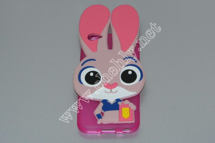 Силиконовый 3D чехол Кролик Джуди Хопс Зверополис Apple iPhone 5c