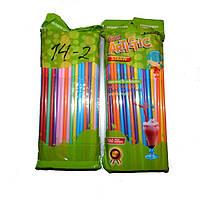 Трубочки для коктейлей (100 шт.) разноцветные