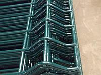 Ворота распашные 1500*4000 мм (2 столба+2 створки ворот) оц. ПВХ. Цвет зелёный