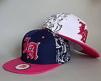 Бейсболка L A . р.52-55 (4-8 лет) розовый, малина, белый, т.синий, бирюза, фото 1
