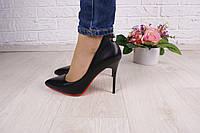 Туфли лодочки женские цвет черный размер  37 38 в наличии
