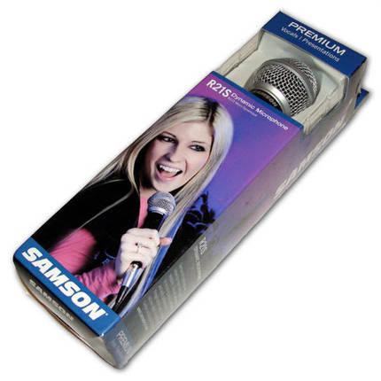 Универсальный динамический микрофон (c выключателем) SAMSON R21S, фото 2
