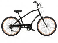 "Велосипед 26"" ELECTRA Townie Original 7D Men's black w/orange rims, фото 1"
