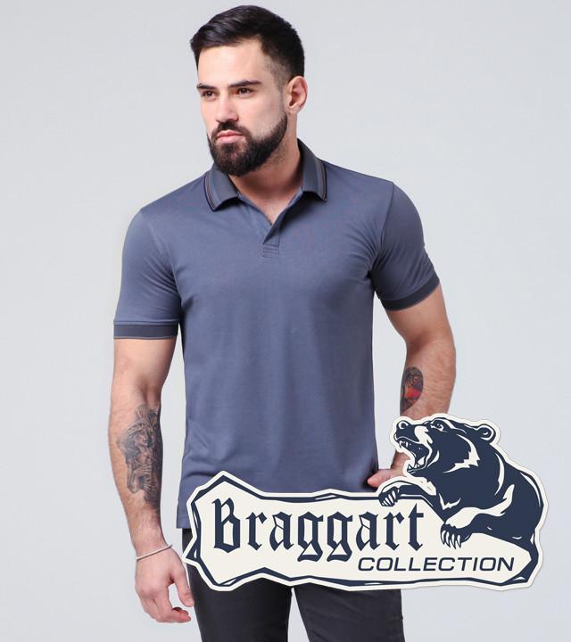 Braggart | Футболка мужская 6635 серо-синий