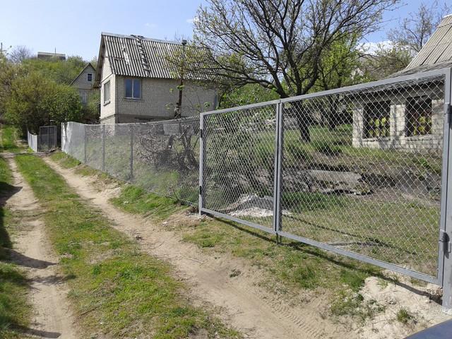 забор из сетки рабицы с установкой Харьков