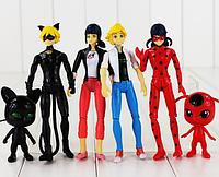Набор фигурок Леди Баг и Супер Кот 15 см. 6 штук Miraculous Ladybug and Cat Ледибаг, фото 1