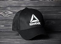 Стильная Красная кепка/бейсболка мужская/женская черная рибок (Reebok) реплика