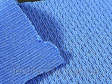 Трикотаж Сетка спорт цвет голубой, фото 2