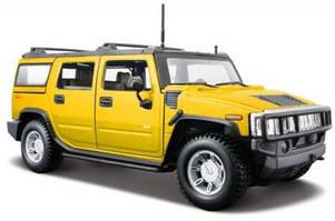 Автомодель Maisto 1:27 2003 Hummer  H2 SUV  Автомодель Maisto 1:27 2003 Hummer  H2 SUV желтый