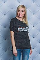 Женская футболка темно-серая, фото 1