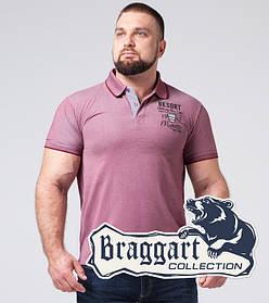 Braggart | Тенниска мужская большого размера 17092-1 красный