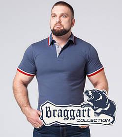 Braggart | Футболка мужская большого размера 17093-1 серо-синий