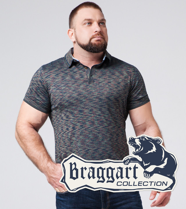 Braggart | Тенниска большого размера 6658-1 синий