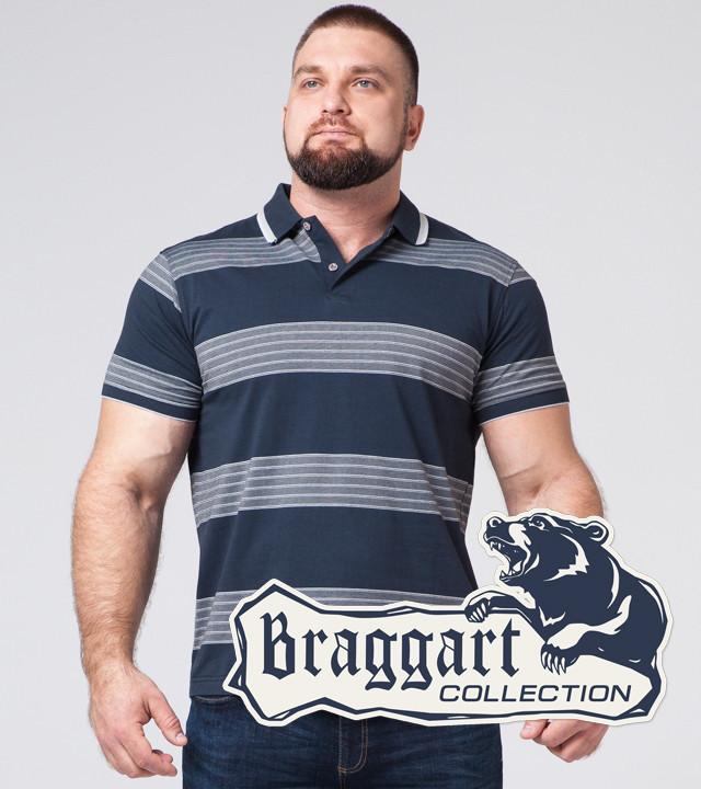 Braggart | Рубашка поло большого размера 6683-1 синий