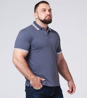 Braggart | Рубашка поло большого размера 6637-1 серо-синий, фото 2