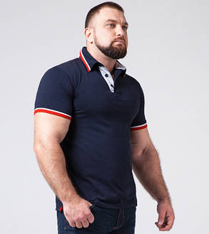 Braggart   Мужская футболка большого размера 17093-1 синий, фото 2