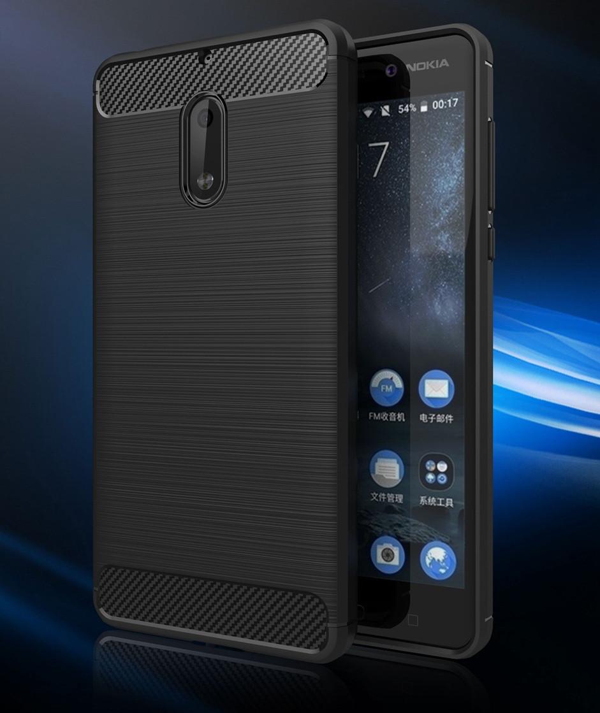 Чохол PRIMO Carbon Fiber для Nokia Series 6 - Black