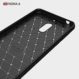 Чехол PRIMO Carbon Fiber Series для Nokia 6 - Black, фото 7