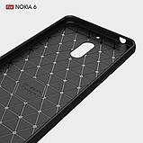 Чохол PRIMO Carbon Fiber для Nokia Series 6 - Black, фото 7