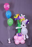 Воздушные шарики c рисунком и с гелием
