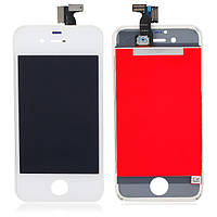 LCD Дисплей+сенсор  iPhone 4G белый high copy (T/M)