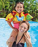 Детский надувной жилет Intex 58673 с морскими животными