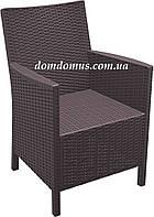 Кресло пластиковое, CALIFORNIA Siesta, Турция коричневое