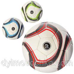 Мяч футбольный 2500-15ABC, размер 5, ПУ 1,4 мм, 400-420г, 3 цвета