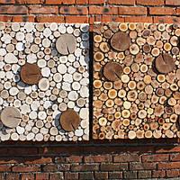 Деревянная панель, плитка из спилов дерева