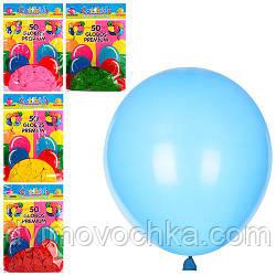 Шарики надувные MK 0011-1, 50 шт, 5 цветов, в кульке 1 цвет