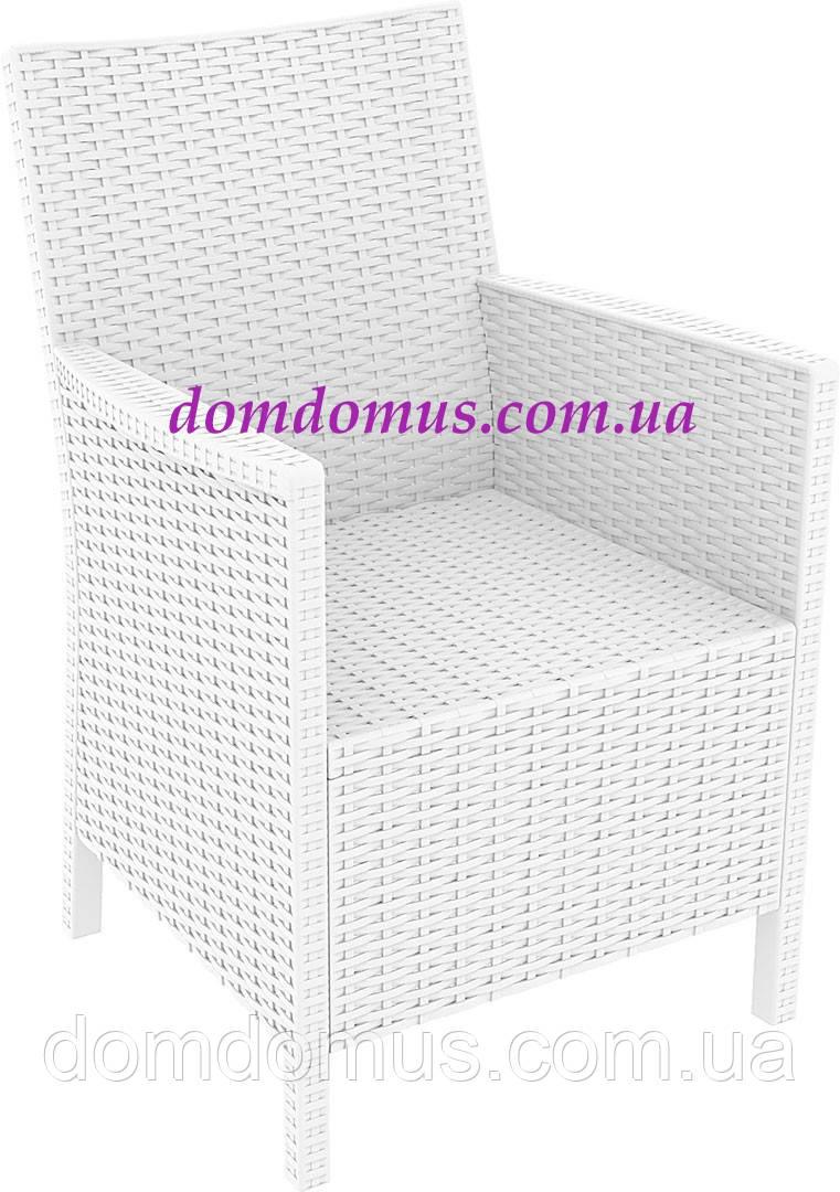 Кресло пластиковое California, Siesta, Турция, белое