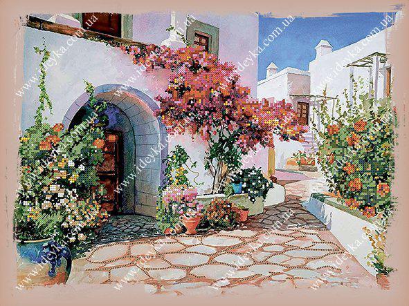 Вышивка бисером - Греческий дворик