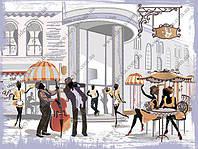 Вышивка бисером - Уличное кафе