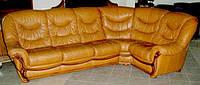 Угловой кожанный диван б\у из Европы