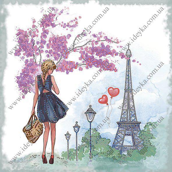 Вышивка бисером - Весна в Париже