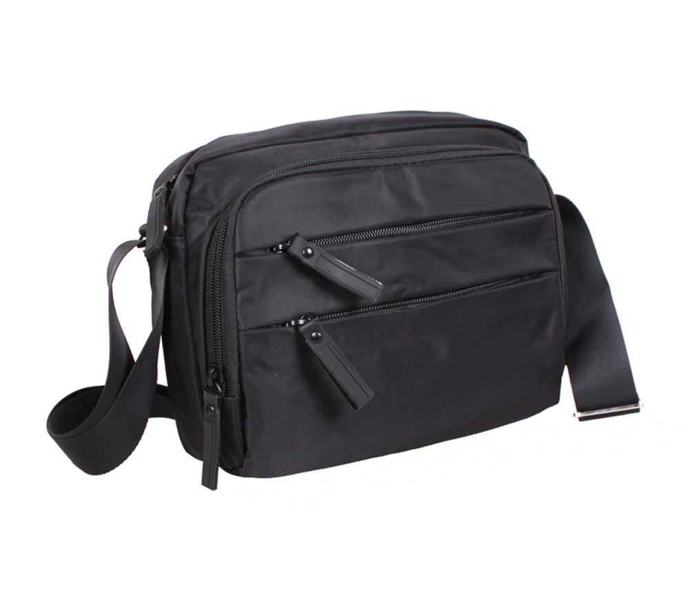 Качественная мужская сумка черного цвета Prima MP6338-22BL Черная