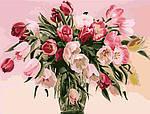 Картины по номерам - Тюльпаны в вазе